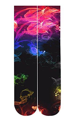 Leapparel Unisex 3D Socks Adult One Size Crazy Tube Funny Novelty Polyester Fibre Socks