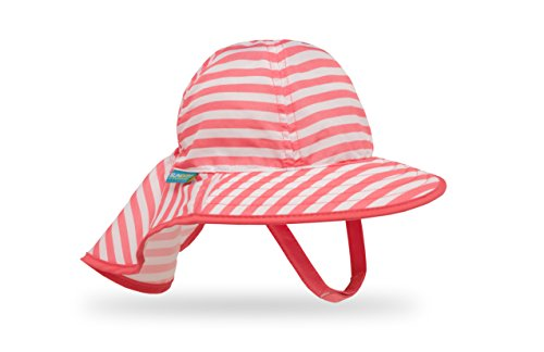 Sunday Afternoons Infant Sunsprout Hat, Coral/White Stripe, Infant
