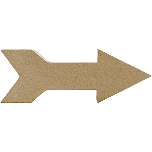 Darice 2875-3196 Paper Mache Arrowhead with Feather Back End -