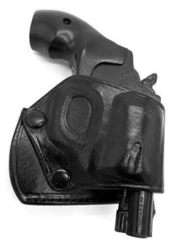 HOLSTERMART USA TAGUA Right Hand OWB Black Leather Yaqui Belt Slide Holster for Smith & Wesson S&W J-Frame Revolver 1-7/8