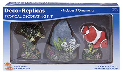 Penn Plax Deco-Replicas: Complete Decorating Kit for Your Aquarium (Tropical) (Plax Penn Deco)