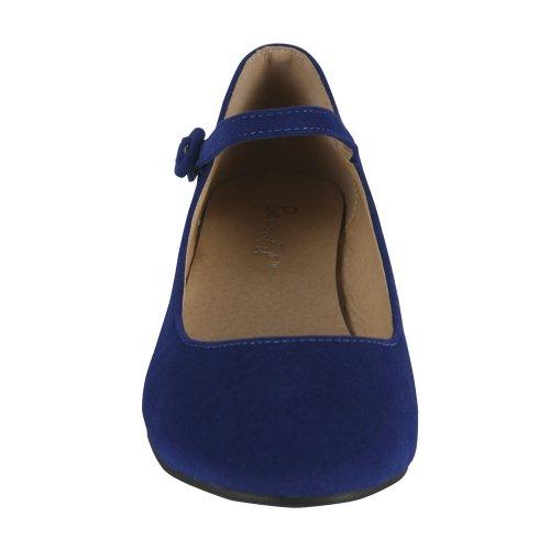 Ballerine Bonnibel Dobie-4 Donna Con Cinturino, Colore: Blu Royal, Misura: 5.5