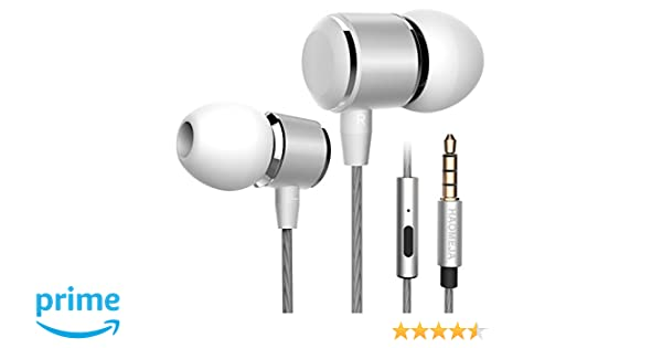 HAOMEJA Music Headphones Earphones Earbuds Noise Cancelling Headphones with  Microphone with mic Wired Earbuds HD Sound Good DJ HiFi in Ear Headphones