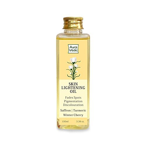 Auravedic Skin Lightening Oil with Saffron, Turmeric and Winter Cherry, 100 - Lightening Oil