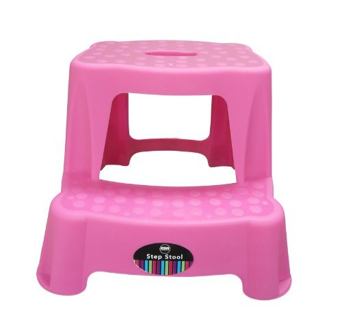 RSW Pink High Quality Sturdy Plastic Step Stool Home Bathroom Kitchen