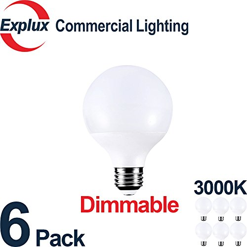 Dimmable High-output 800 lm G25 Globe LED Bulbs, 3000K, 60W Vanity Light Bulb Replacement, 8.5W G25 LED Globe Light Bulbs, 3000K Soft Warm White (Pack of (Led Vanity Light Replacement)