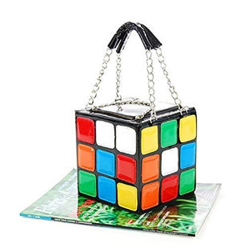 Embrague Personalidad Cubo Mano De Femenino Zwykh Estilo La Mujer Rubik Bolso Moda Lindo 87qnwIS