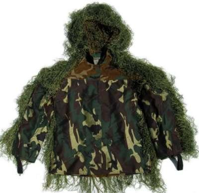 Ghillie Ultralight (GhillieSuits Synthetic Ultra-Light Sniper Ghillie Leafy Green BDU Jacket Medium)