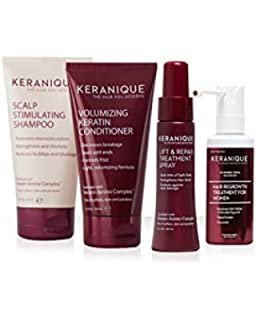 Keranique 30 Day Hair Regrowth System (Scalp Stimulating Shampoo and Volumizing Keratin Conditioner 4.5 oz