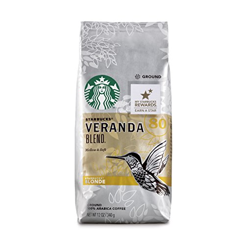 Starbucks Veranda Blend Light Blonde Roast Ground Coffee, 12-Ounce Bag (Pack of 6)
