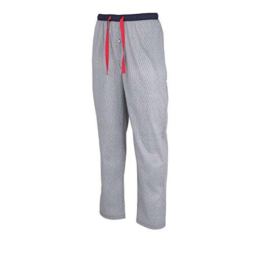TOM TAILOR Herren Lange-Hose, Schlafhose, Pyjama-Hose - Baumwolle, Popeline, blau, gestreift, mit Eingriff