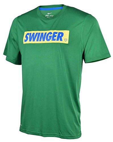 Nike Men's Dri-Fit Legend Swinger Baseball T-Shirt-Green-Large