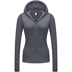 REGNA X NO BOTHER Women's Full Zip Up Essential Performance Jersey Hooded Jacket