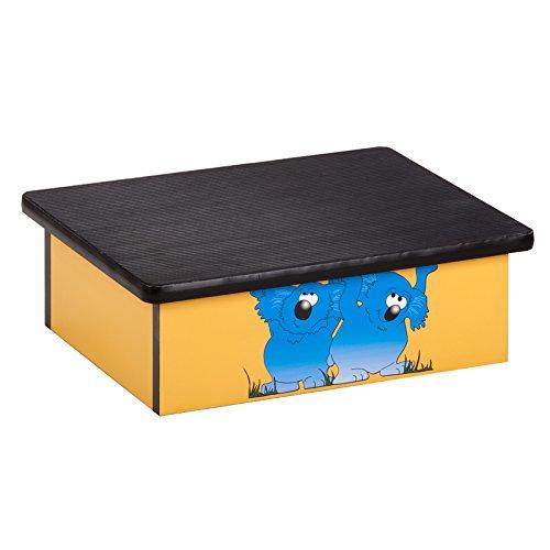 Pediatric Equipment - 20'' x 16'' x 7'' Koala Yellow Laminate Pediatric Step Stool - CL-10-K by Miller Supply Inc