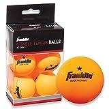 Franklin Sports 1 Star Table Tennis Balls (Pack of 6), Orange, 40 mm