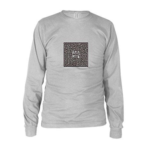 Love Being Lost - Herren Langarm T-Shirt, Größe: M, Farbe: weiß