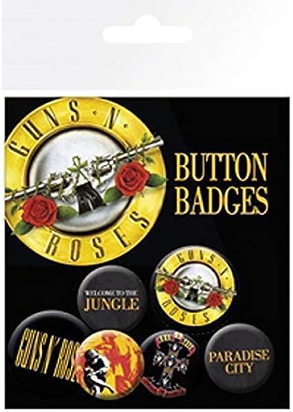 Unbekannt GB Eye LTD, Guns N Roses, Lyrics y Logos, Pack de Chapas: Amazon.es: Hogar