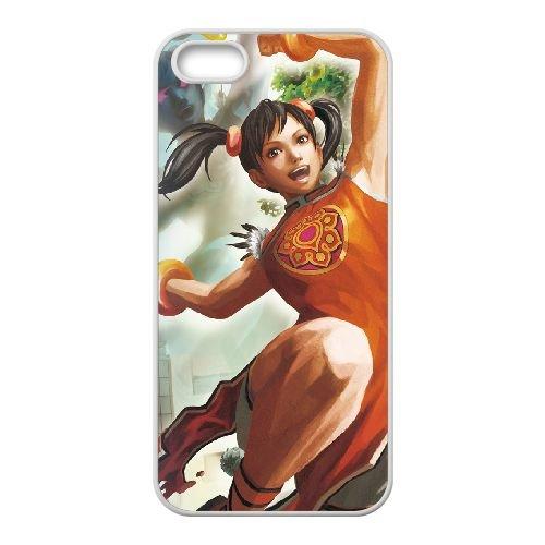 Street Fighter X Tekken 17 coque iPhone 5 5s cellulaire cas coque de téléphone cas blanche couverture de téléphone portable EEECBCAAN03536