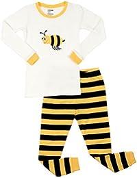 Kids & Toddler Pajamas Boys Girls Unisex 2 Piece Pjs Set 100% Cotton Sleepwear (