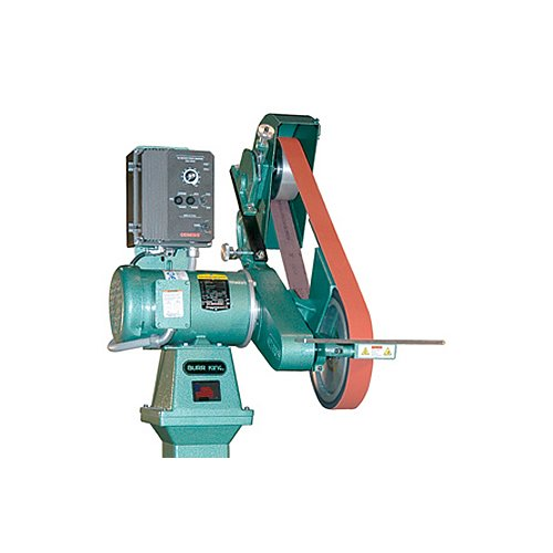 Burr King 98830 Model 960-272 Two Wheel Belt Grinder, 1.5 hp, 220V, 1 Phase, 50 Hz - 60 Hz, 700 SFPM - 7000 SFPM, 2