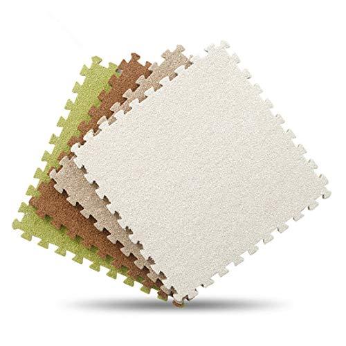 JONARO 9pcs Soft EVA Foam Short Fur Puzzle Baby Play Mat Interlock Floor Winter Mat Exercise mat,Living Room 30X30cm - Interlock Short Infant
