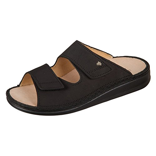 Finn Comfort Riad, Unisex Adult Sandals,Black (Black),10 UK (44 EU)