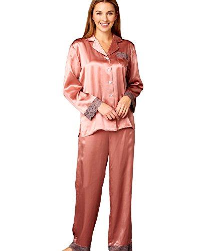 Julianna Rae Women's The Serendipity 100% Silk Pajama, Kirsch, S