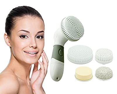 Spa Day Skin Care 4 in 1 Electric Facial Cleansing Brush Kit for All Skin Types