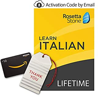 Rosetta Stone: Learn Italian [Lifetime Online/Mobile Access - Digital Code] with Amazon.com $10 Gift Card (B07GLLCS7R) | Amazon price tracker / tracking, Amazon price history charts, Amazon price watches, Amazon price drop alerts