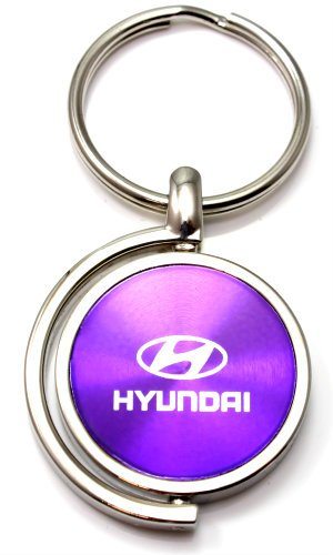 Morado Hyundai Logo Brushed metal redondo Spinner Chrome ...