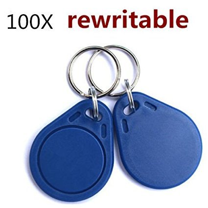 100pcs/lot RFID 125KHz Writable Rewrite T5577 Proximity Access Key Fobs Key Tags Empty Card can programtable! KingOne