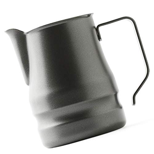 Ilsa Evolution Milk Frothing Pitcher Professional Latte Art Milk Steaming Jug Stainless Steel, Grey - 350ml / 12oz by Ilsa (Image #2)
