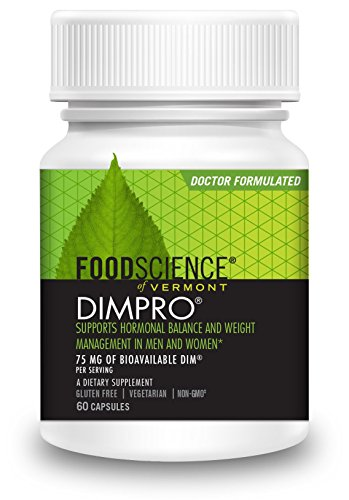 FoodScience of Vermont DimPro, Hormone Balance Support Supplement, 60 Capsules