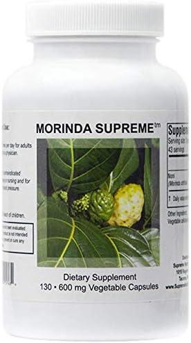 Supreme Nutrition Morinda Supreme 130 Whole Noni Fruit 600 mg Capsules   1800 mg per Serving