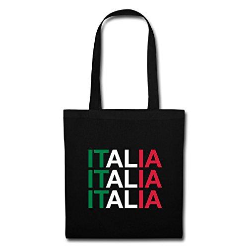 Black Italian Flag Bag Typography Spreadshirt Italia Tote SwE5Y5Hq