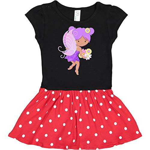 (inktastic - Purple Infant Dress 6 Months Black & Red with Polka Dots 2a57d)