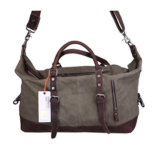 On Womens Cotton Weekend Organiser Default Satchel Shoulder Travel Mens Bag amp; Carry Quality Crossbody OD Duffle Leather Gray Holdall Bag Totes Canvas Handbag Genuine HwPdq