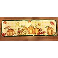 Fall Pumpkin Patch Kitchen Runner Rug Kitchen Runner Area Rug Fall Leaves Decor
