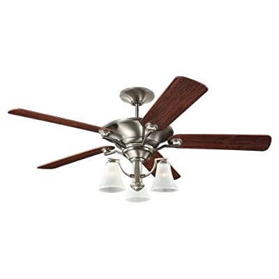 "Sea Gull Lighting 15170B-839, Somerton Blacksmith 56"" Ceiling Fan with Light"