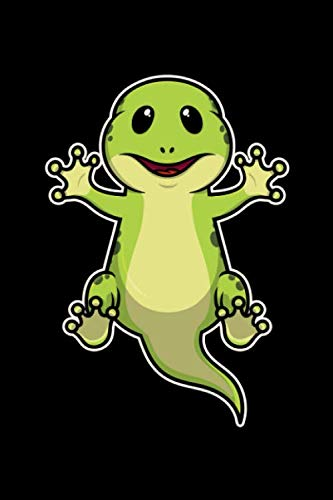 Lined Gecko Day - Notebook: 109 pages A5 ( 6x9 inch) - Lined - Great gift for kids and friends - A great gift idea for the first day of school - Cute funny Alligator Gecko Reptil
