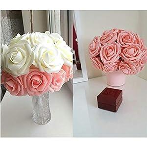 10 Heads 8CM Pretty Charming Artificial Flowers PE Foam Rose Flowers Bride Bouquet Home Wedding Decor Scrapbooking DIY Supplies 12