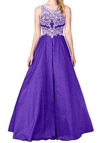 A mia Promkleider Abendkleider Violett Ballkleider Lang Linie Braut Hundkragen Abschlussballkleider La Spitze Rock fRaB4nWW
