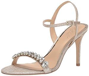 Jewel Badgley Mischka Women's STEFANIE Sandal, Light Gold, 8.5 M US