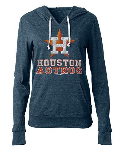 New Era Houston Astros Women's MLB Triple Tri-Blend Hooded Shirt
