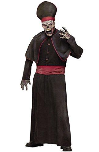 [8eighteen Zombie High Priest Robe Adult Halloween Costume] (High Priest Zombie Costumes)