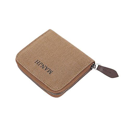 0820cb076b6c63 Herren Canvas Geldbeutel Geldbörse Portemonnaie koreanisch vintage Wallet  Münzbörse Kreditkarten Etui