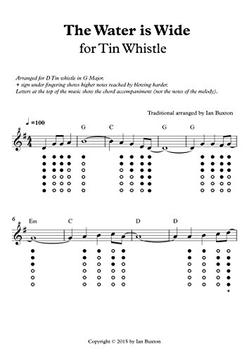 Amazon The Water Is Wide For Tin Whistle With Chords Ebook Ian