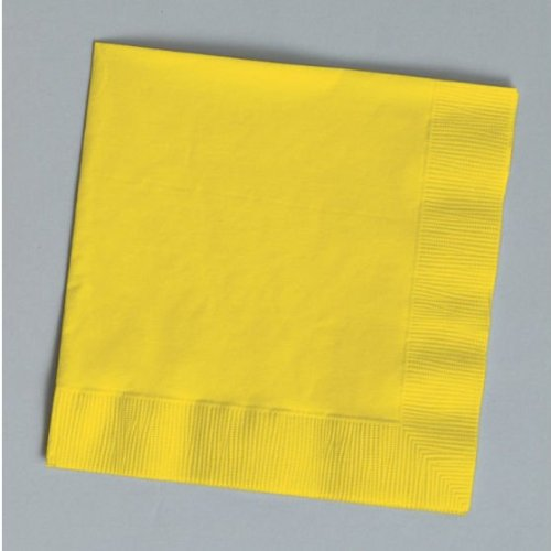 Creative Expressions Cocktail/Beverage Napkins, School Bus Yellow (571021B)