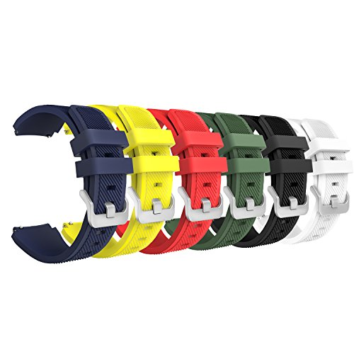 Gear S3 Frontier/ Classic Watch Band, MoKo [6-PACK] Soft Silicone...