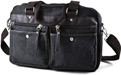 スポーツジムバッグ多機能メンズアウトドア旅行服収納袋厚手のキャンバス、簡単に着用して、簡単にデザイン、旅行エッセンシャルブラック HMMSP